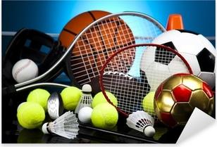 Pixerstick Sticker Verschillende soorten sport uitrusting