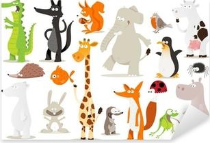 Pixerstick Sticker Verzameling d'animaux pour enfants