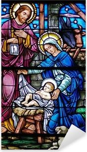 Sticker Pixerstick Veuve du vitrail de la Nativité