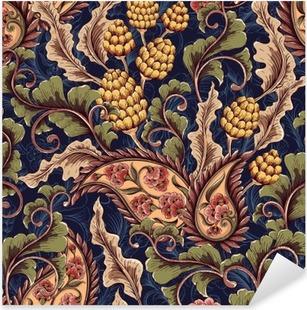 Victorian seamless pattern Pixerstick Sticker