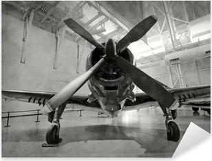 Sticker Pixerstick Vieil avion dans un hangar