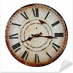 Sticker Pixerstick Vieille horloge.