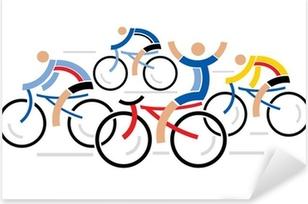Pixerstick Sticker Vier wielrenners