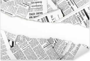 Sticker Pixerstick Vieux journaux déchirés