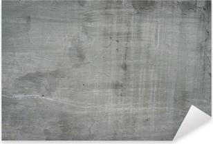 Sticker Pixerstick Vieux mur gris béton de ciment de pierre fissurée cru sale