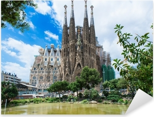 view of Sagrada Familia in Barcelona. Spain Pixerstick Sticker