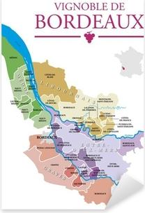 Vignoble de Bordeaux Pixerstick Sticker