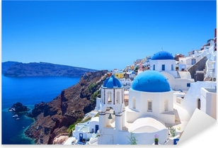 Village of Oia in Santorini Pixerstick Sticker