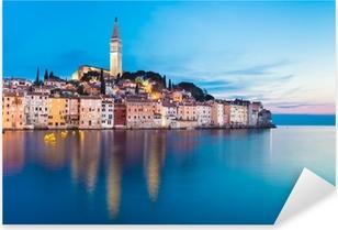 Sticker Pixerstick Ville côtière de Rovinj, Istrie, Croatie.