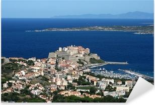 Sticker Pixerstick Ville de Calvi, Balagne, Corse, Corse