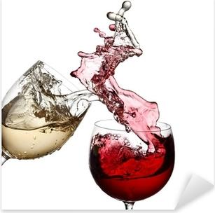 Sticker Pixerstick Vin rouge et blanc tous ensemble