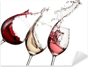 Sticker Pixerstick Vin rouge, rose et blanc jusqu'à