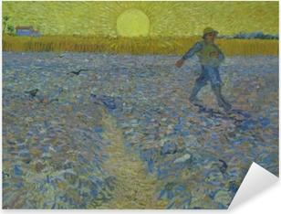 Pixerstick Sticker Vincent van Gogh - De zaaier bij zonsondergang