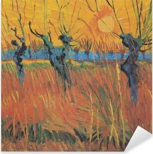 Pixerstick Sticker Vincent van Gogh - Knotwilgen bij ondergaande zon