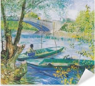 Pixerstick Sticker Vincent van Gogh - Vissen in het voorjaar