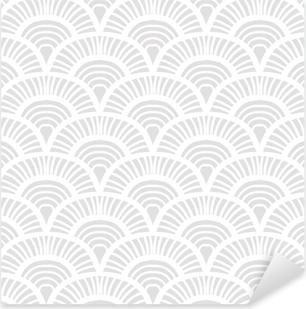 Vintage hand drawn art deco pattern Pixerstick Sticker