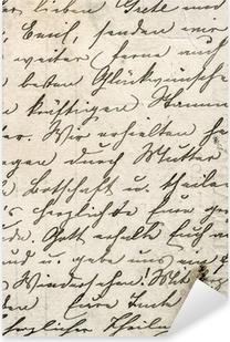 Pixerstick Sticker Vintage handschrift met een tekst in undefined taal