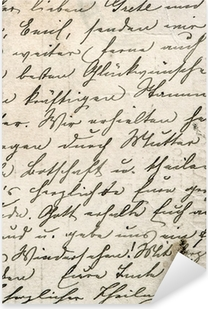vintage handwriting with a text in undefined language Pixerstick Sticker