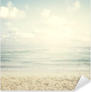 Vintage tropical beach in summer Pixerstick Sticker
