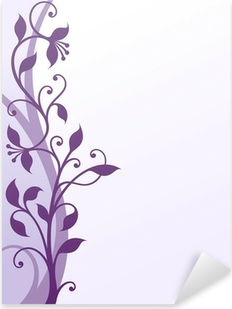 Violet flowers Pixerstick Sticker
