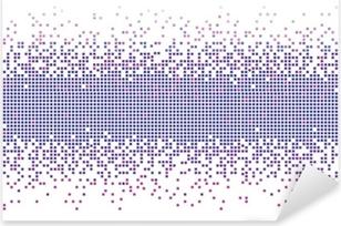 Pixerstick Sticker Violet gradient pixels achtergrond