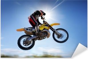Pixerstick Sticker Vliegende moto