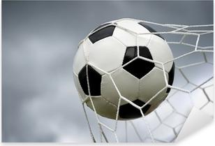 Pixerstick Sticker Voetbal bal in doel