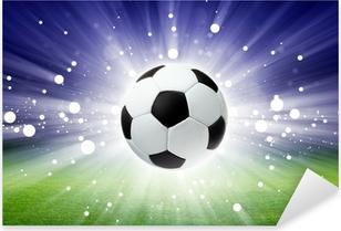 Pixerstick Sticker Voetbal bal, stadion, licht
