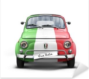 Voiture Italienne sur Fond Blanc Pixerstick Sticker