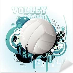 Sticker Pixerstick Volley-ball vecteur