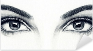 Pixerstick Sticker Vrouw ogen