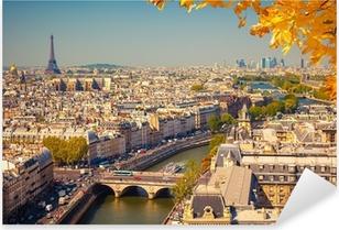 Sticker Pixerstick Vue aérienne de Paris