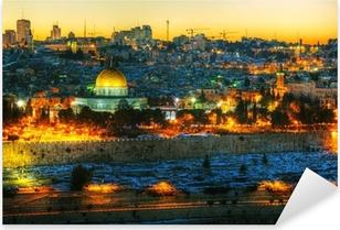 Sticker Pixerstick Vue d'ensemble de la vieille ville de Jérusalem, Israël
