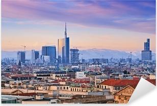 "Sticker Pixerstick Vue de l `Milan quartier d'affaires de"" Duomo di Milano ""."