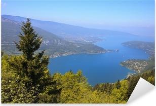 Sticker Pixerstick Vue sur le lac d'Annecy depuis le Col du Forclaz