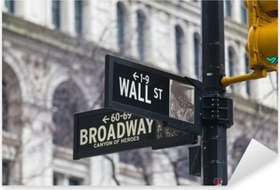 Wall st. street sign, New York, USA. Pixerstick Sticker