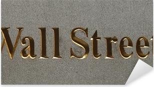 Pixerstick Sticker Wall street plaque, Manhattan, New York city