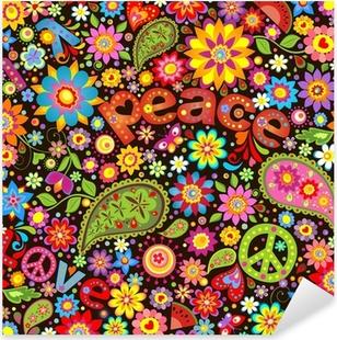 Fiori Hippie.Hippie Stickers Pixers We Live To Change