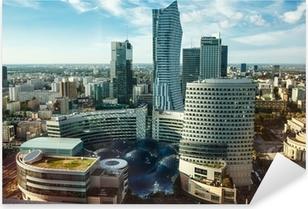 Warsaw view Pixerstick Sticker