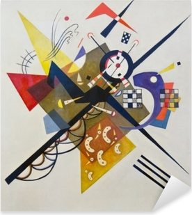 Wassily Kandinsky - On White II Pixerstick Sticker