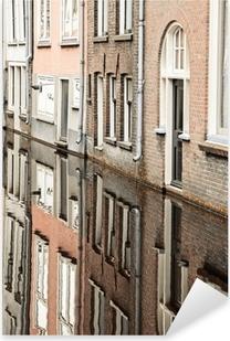 Pixerstick Sticker Water kanaal in de stad Delft, Nederland
