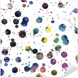 Watercolor galaxy background. Pixerstick Sticker