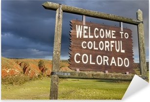 welcome to Colorado sign Pixerstick Sticker