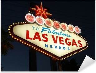Welcome To Las Vegas neon sign at night Pixerstick Sticker