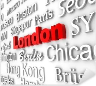 Weltstadt 4 London Pixerstick Sticker