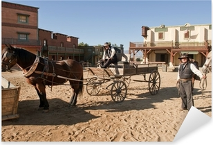 Sticker Pixerstick Western Town Film fixé à Mini Hollywood Espagne