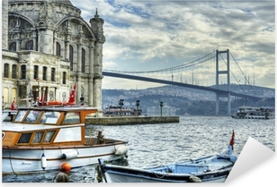 where two continents meet: istanbul Pixerstick Sticker