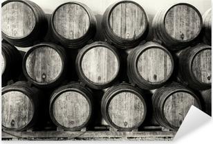 Sticker Pixerstick Whisky ou tonneaux de vin en noir et blanc
