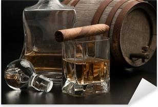 Whisky & Sigaro Pixerstick Sticker