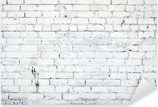 White brick wall Pixerstick Sticker